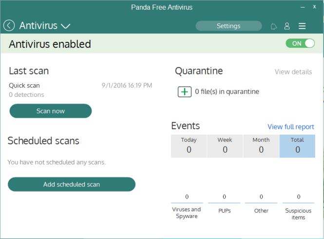Panda Free Antivirus Screenshot 2