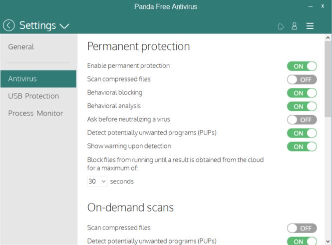 Panda Free Antivirus Screenshot 4