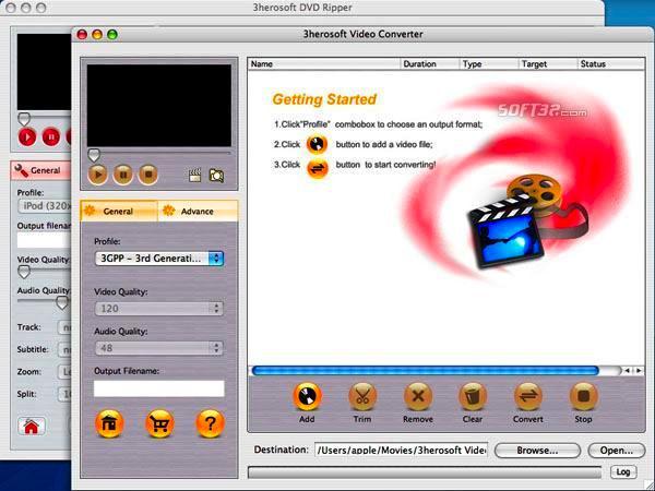3herosoft DVD Ripper Suite for Mac Screenshot 3
