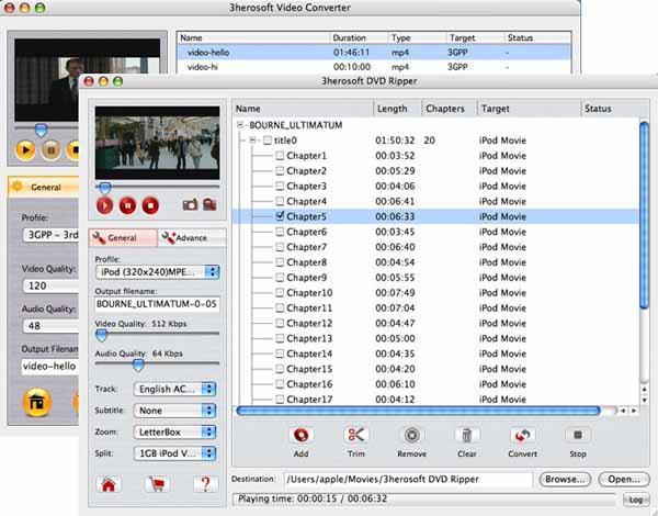 3herosoft DVD Ripper Suite for Mac Screenshot