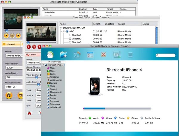 3herosoft iPhone Mate for Mac Screenshot