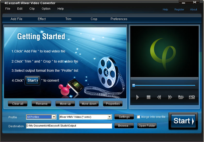 4Easysoft iRiver Video Converter Screenshot 1