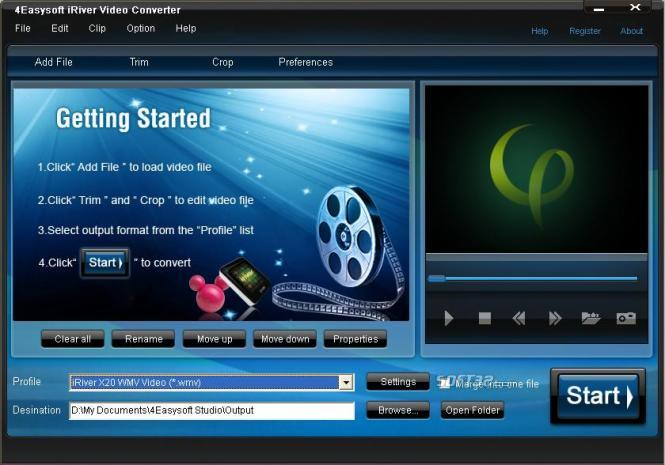4Easysoft iRiver Video Converter Screenshot 3