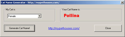 Cat Name Generator Screenshot