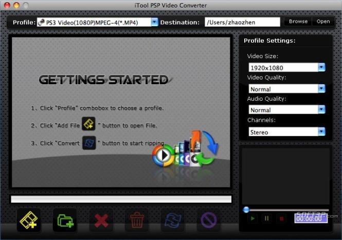iTool PSP Video Converter for MAC Screenshot 2