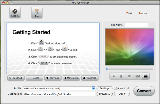 MP3 Converter for Mac Screenshot