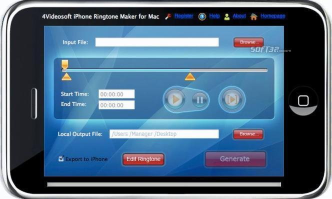 4Videosoft iPhone Ringtone Maker for Mac Screenshot 2