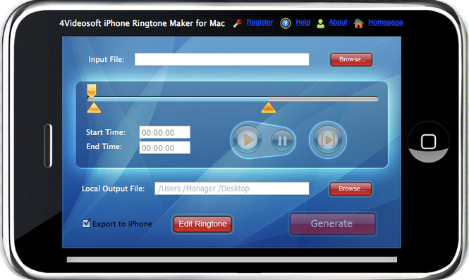4Videosoft iPhone Ringtone Maker for Mac Screenshot