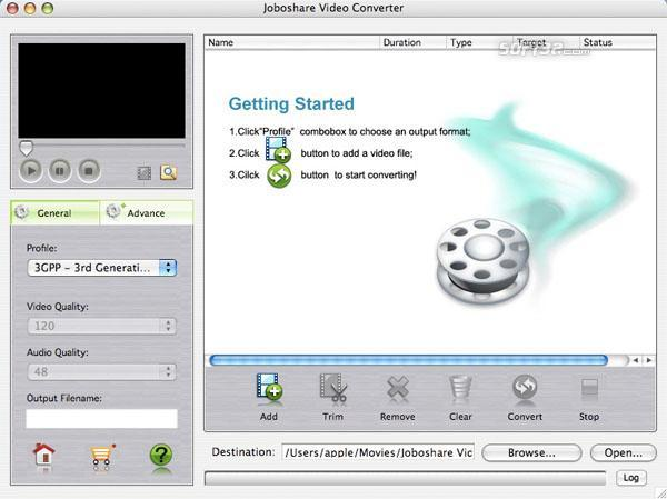 Joboshare Video Converter for Mac Screenshot 2