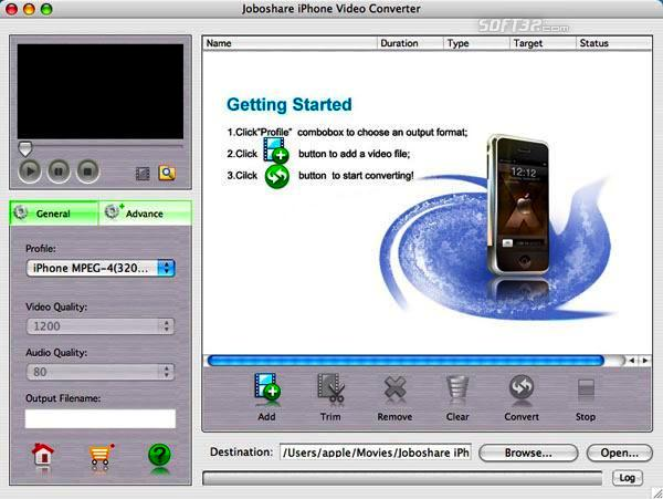 Joboshare iPhone Video Converter for Mac Screenshot 2