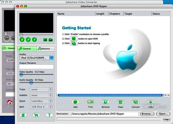 Joboshare DVD Ripper Bundle for Mac Screenshot 2