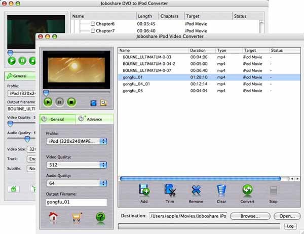 Joboshare DVD to iPod Bundle for Mac Screenshot 1