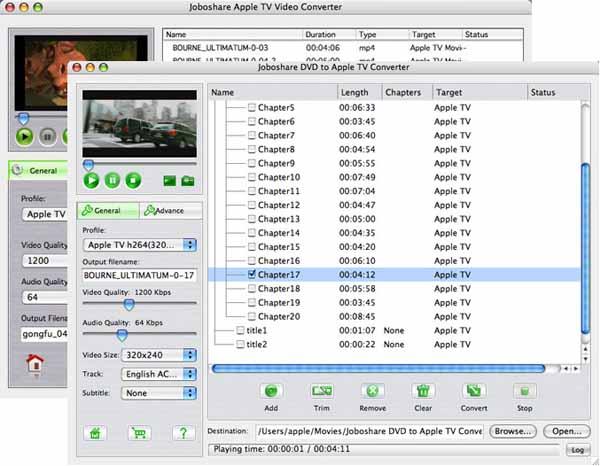 Joboshare DVD to Apple TV Bundle for Mac Screenshot