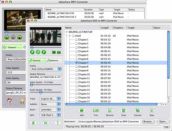 Joboshare DVD to MP4 Bundle for Mac Screenshot