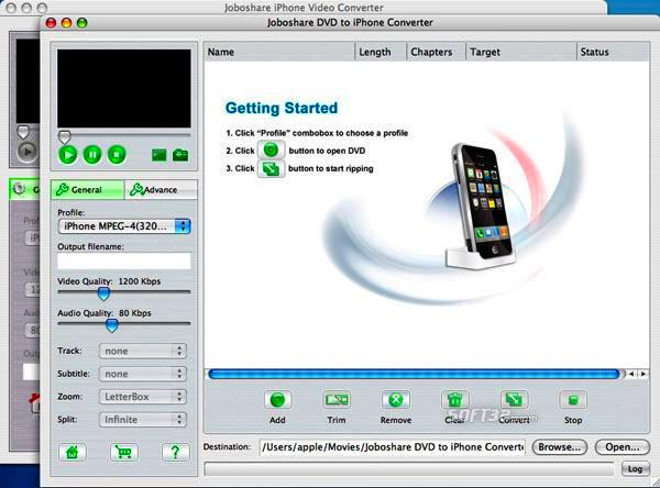 Joboshare DVD to iPhone Bundle for Mac Screenshot 2