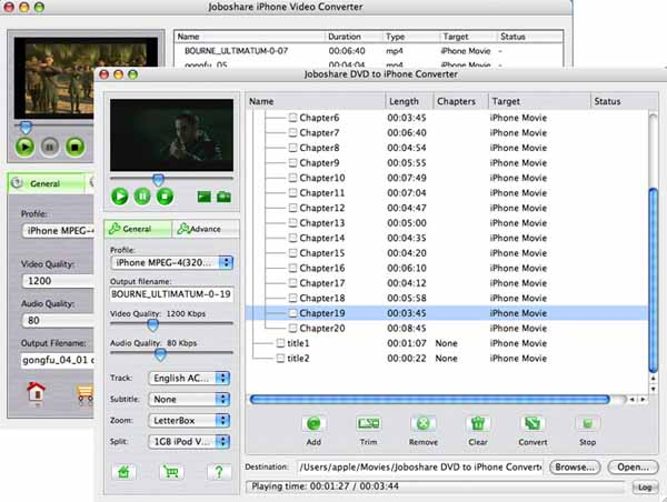 Joboshare DVD to iPhone Bundle for Mac Screenshot