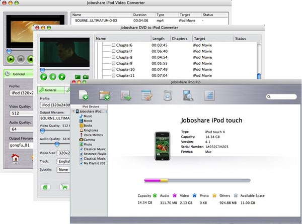 Joboshare iPod Mate for Mac Screenshot 1