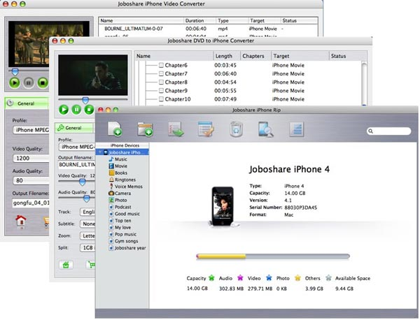 Joboshare iPhone Mate for Mac Screenshot