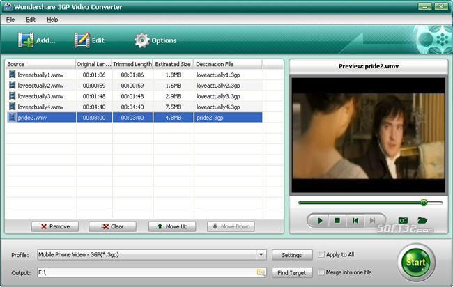 Wondershare 3GP Video Converter Screenshot