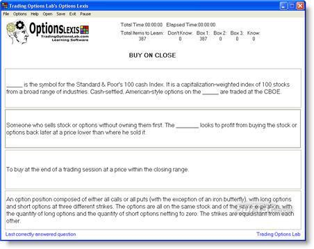 Options Lexis Screenshot 3