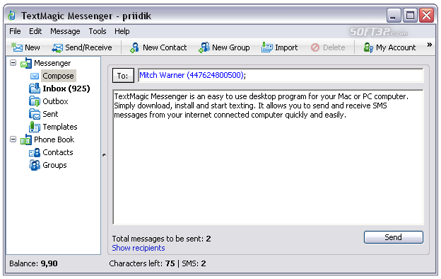 TextMagic Messenger Screenshot 3