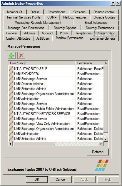Exchange Tasks 2007 Screenshot 4