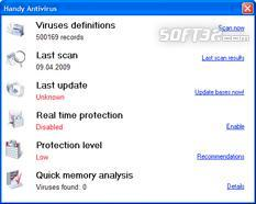Handy Antivirus Screenshot 1