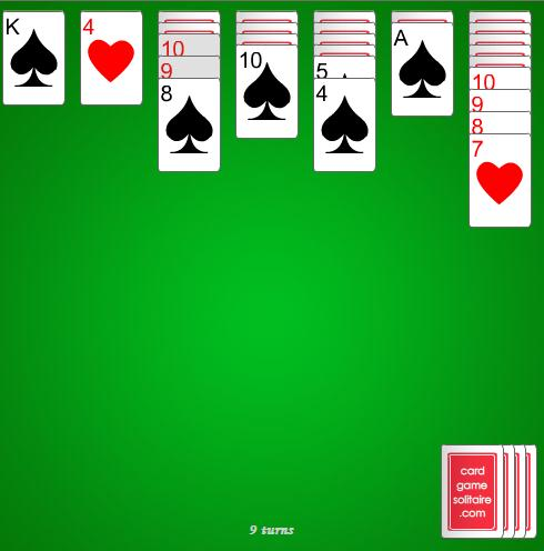 2-suit Spiderette Solitaire Screenshot 1