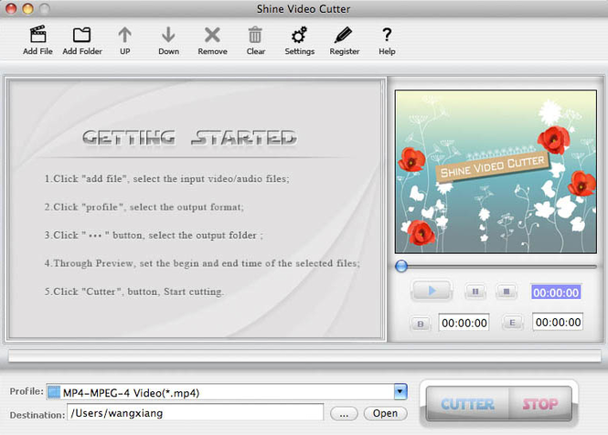 Shine Video Cutter for Mac Screenshot
