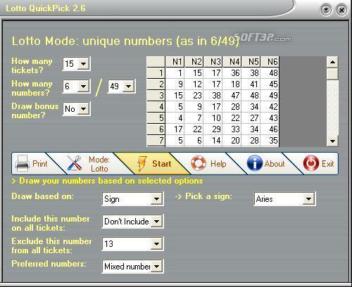 Lotto QuickPick Screenshot 3