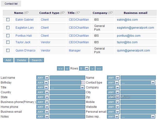 iCRM Screenshot 2