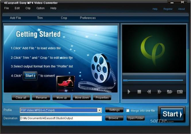 4Easysoft Sony MP4 Video Converter Screenshot 3
