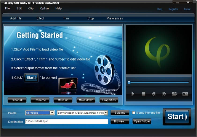 4Easysoft Sony MP4 Video Converter Screenshot