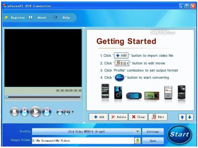 uSeesoft FLV Converter Screenshot 3
