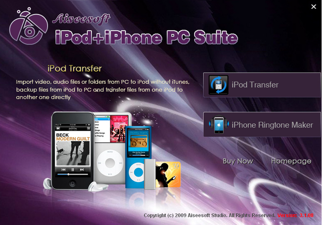 Aiseesoft iPod + iPhone PC Suite Screenshot 1