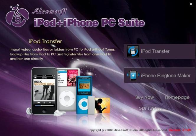 Aiseesoft iPod + iPhone PC Suite Screenshot 2