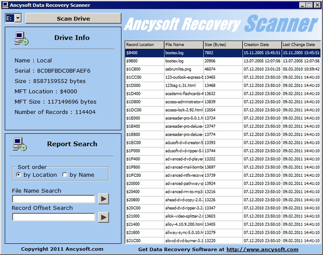 R-Data Recovery Software Screenshot 1