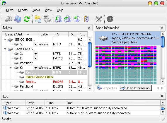 R-Data Recovery Software Screenshot 3