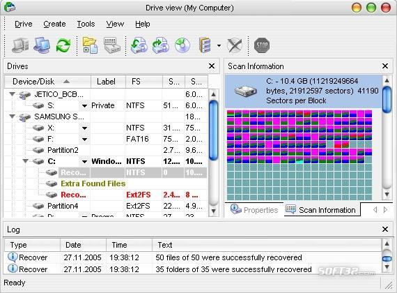 R-Data Recovery Software Screenshot 2