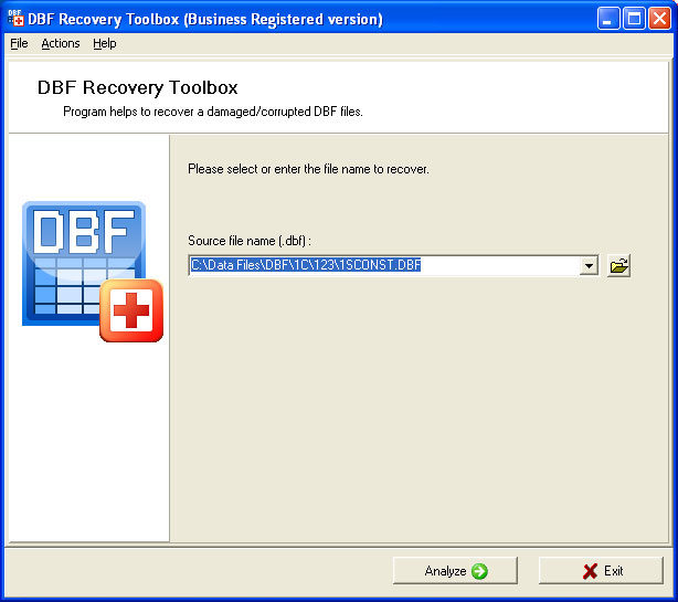 DBF Recovery Toolbox Screenshot 3