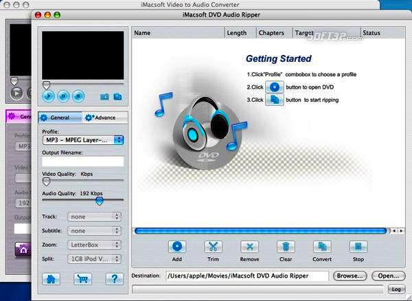 iMacsoft DVD Audio Ripper Suite for Mac Screenshot 2