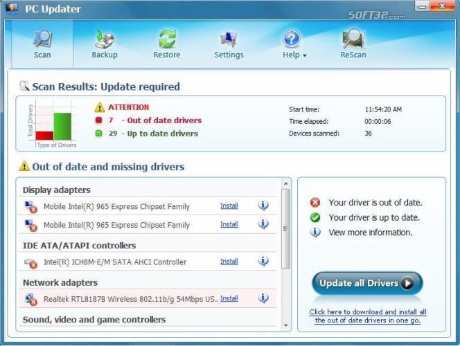 PC Updater Screenshot 2