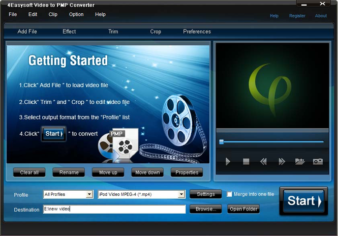 4Easysoft Video to PMP Converter Screenshot