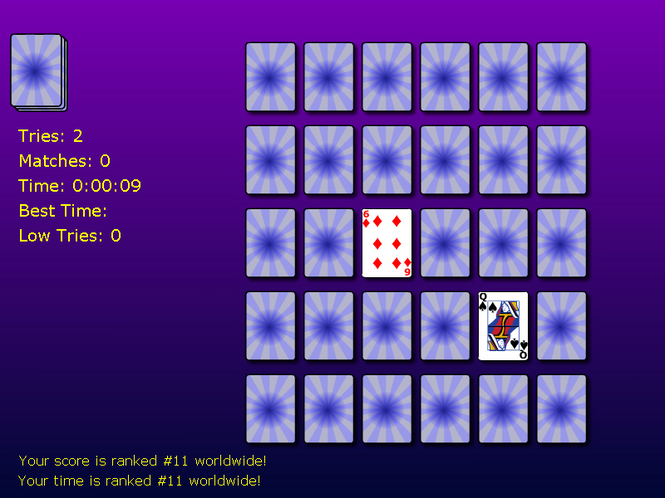 Solitaire Memory Match Screenshot
