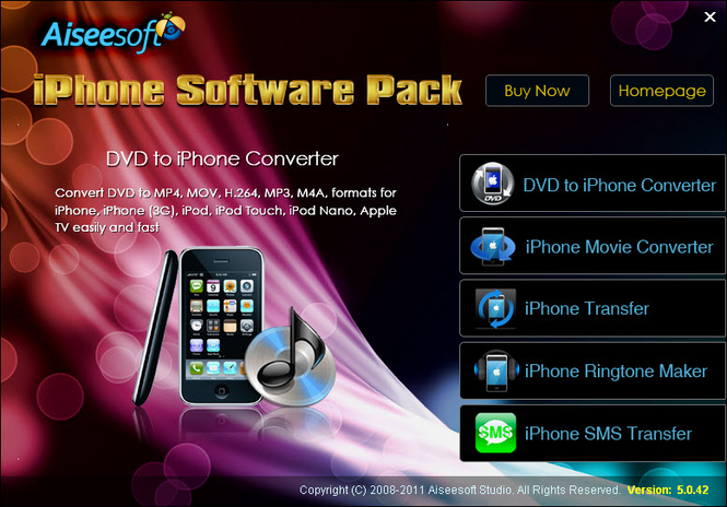 Aiseesoft iPhone Software Pack Screenshot
