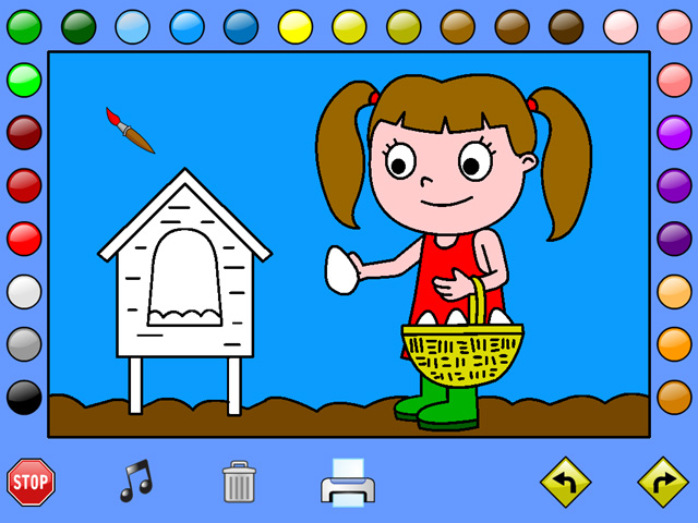 Leah's Farm Coloring Book Screenshot