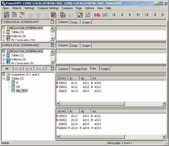 PowerDIFF for Oracle Screenshot
