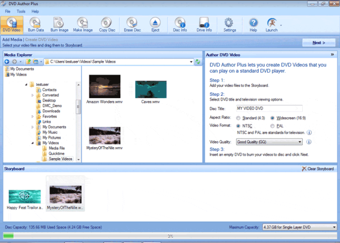 DVD Author Plus Screenshot