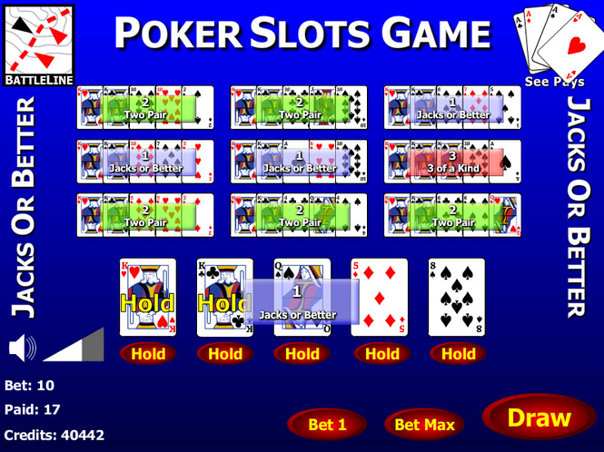 Jacks or Better 10 Play Poker Screenshot