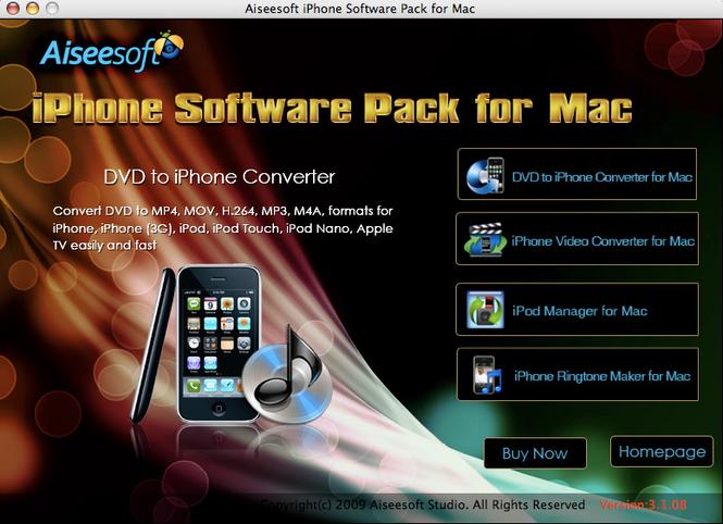 Aiseesoft iPhone Software Pack for Mac Screenshot